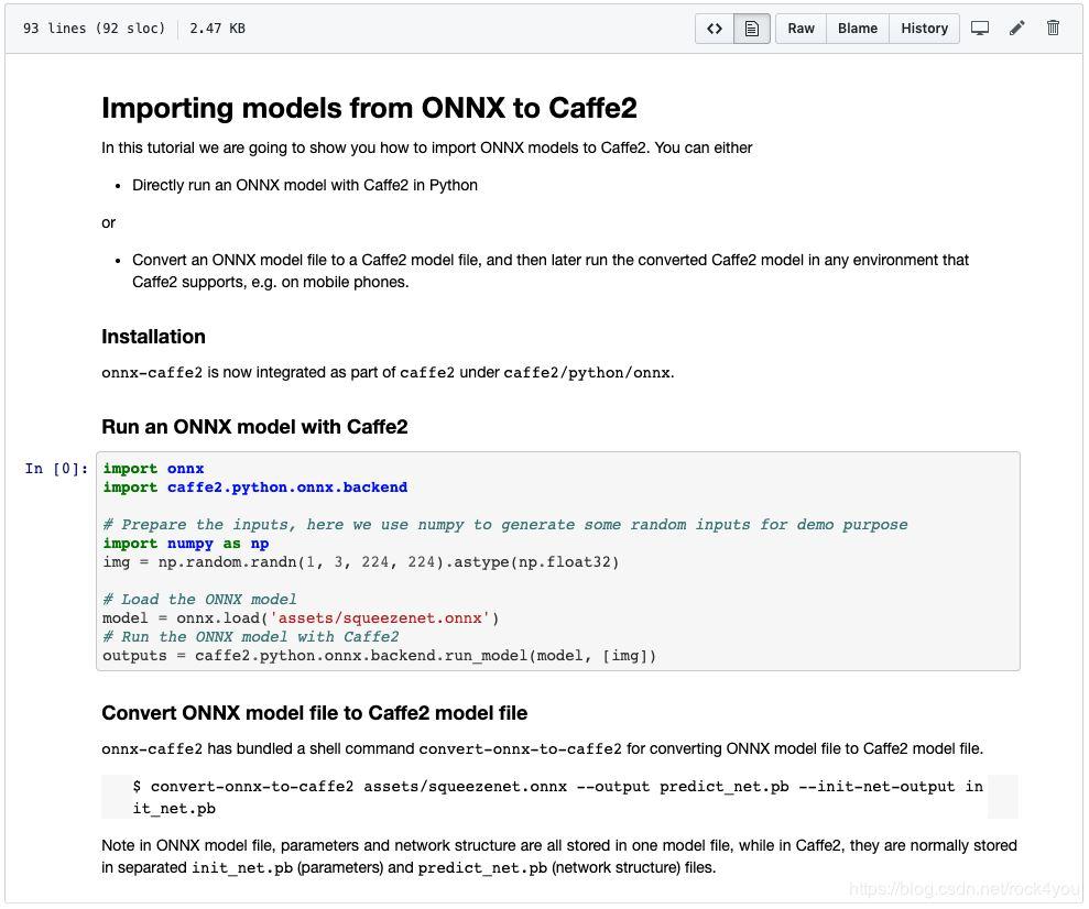 pytorch转caffe2 之onnx转caffe2报错的解决方法ValueError: Don