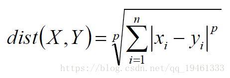 聚类算法概述及相关距离度量公式