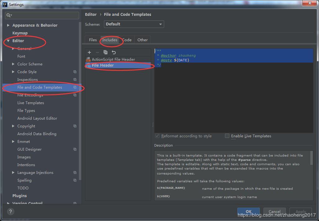 Intellij IDEA中为创建Java类时添加作者与时间信息