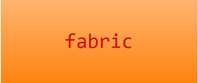 fabric 发布项目