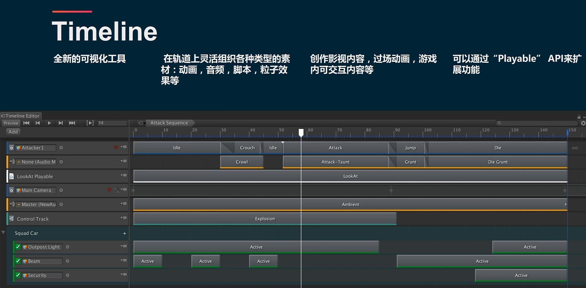Unity3D高级开发-TimeLine(黑科技)