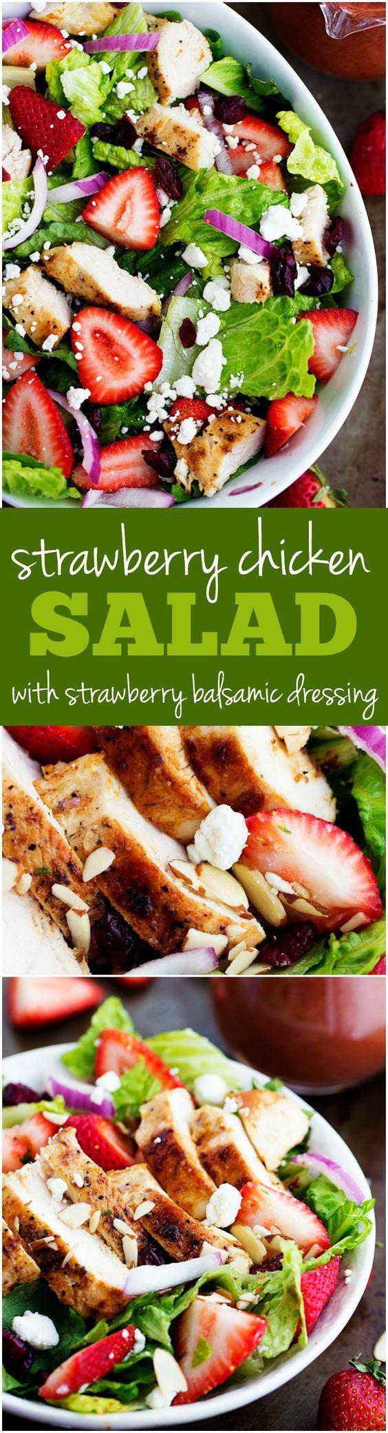 春节的大鱼大肉早就吃腻了吧!上一盘草莓鸡肉沙拉如何?